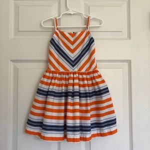 Gymboree Girls Dress Blue Orange Gators 4T